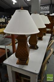 Sale 8515 - Lot 1031 - Set of Four Gilt Table Lamps (060845, 062055, 063208, 063307)