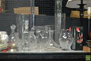 Sale 8530 - Lot 2166 - Collection of Glass Vases & Decanters