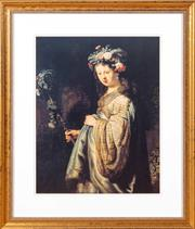 Sale 8562A - Lot 87 - Decorative print in a gilt frame, after Rembrandt, Flora, 69 x 60cm