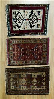 Sale 8585C - Lot 60 - 3 x Persian Baluchi Mats 75cm x 50cm