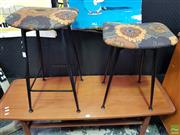 Sale 8607 - Lot 1068 - Two Graduating Stools