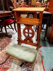 Sale 8693 - Lot 1088 - Early 20th Century Baltic Pine Prie-Dieu, with bible shelf, round cross medallion & kneeler