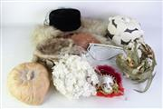 Sale 8890T - Lot 38 - A Collection of Ladies Hats Various Styles inc A Glomesh Bag