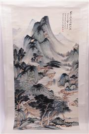 Sale 9018O - Lot 876 - Mountain themed Chinese scroll