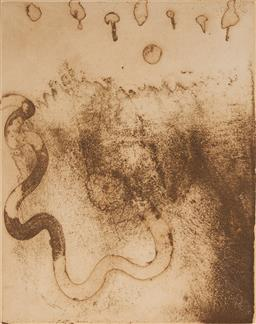 Sale 9133 - Lot 551 - John Olsen (1928 - ) Forever the Snake, 1988 etching, 3/60 38 x 30 cm (frame: 76 x 59 x 4 cm) signed and dated lower right