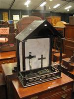 Sale 7919A - Lot 1687 - House Shaped Roadside Alter with 2 Crucifixes