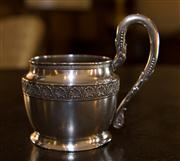 Sale 7981B - Lot 49 - A heavy Russian silver mug
