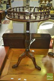 Sale 8312 - Lot 1024 - Carved Timber Wine Table with Gallery Top