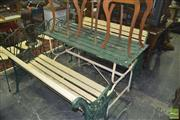 Sale 8331 - Lot 1574 - Three Piece Outdoor Suite Incl 2 Benches And Table