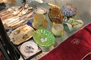 Sale 8360 - Lot 185 - Carlton Ware Cabbage Leaf Tea Wares with Other Ceramics Incl Royal Winton Butter Dish