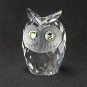 Sale 8412B - Lot 94 - Swarovski Crystal Owl with Box - Height 7cm
