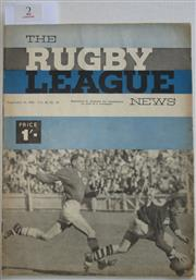 Sale 8404S - Lot 2 - 1962 Rugby League News Grand Final Programme, Sept 15 (Vol.43, No.27), Wests v St George