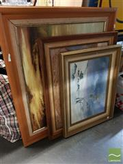 Sale 8478 - Lot 2050 - Framed Painting on Board Country Scene signed Wildauer with 2 Other Framed Paintings on Board Snow Scene & Blue Mountains (3)
