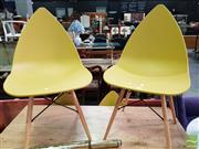 Sale 8566 - Lot 1230 - Set of 6 Plastic Yellow Leaf Chairs