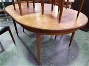 Sale 8661 - Lot 1043A - Teak Extension Dining Table
