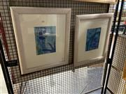 Sale 8906 - Lot 2049 - J Byrres (2 works) Reef Sceneswatercolours, 56.5 x 47cm (frames), signed