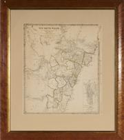 Sale 9082 - Lot 2027B - Antique Map of New South Wales engraved by J & C Walker, published by Baldwin & Cradock, London, 1833 (frame: 61 x 54cm)