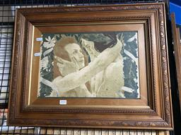 Sale 9159 - Lot 2050 - Henri Bellery-Desfontaines LEnigme, 1898 lithograph (A.F - tear to lower right corner), frame: 45 x 58 cm together with a framed...
