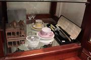 Sale 8022 - Lot 83 - Fred Hillier Australian Pottery Cottage, Boxed Carving Set, Waterford Crystal Dish, etc