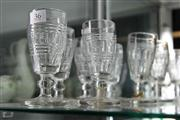 Sale 8032 - Lot 36 - Set of Seven 19th Century Cut Glass Ale Glasses (2 restored)