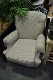 Sale 8117 - Lot 935 - Pair of Wingback Armchairs on Cabriole Legs