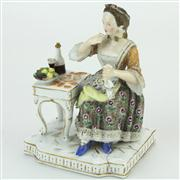 Sale 8372 - Lot 90 - Ludwigsburg Figure of a Female Tippler