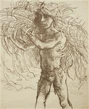 Sale 8475 - Lot 552 - Donald Friend (1915 - 1989) - Untitled (Balinese Boy) 62 x 50cm