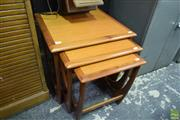 Sale 8550 - Lot 1024 - G-Plan Teak Nest of Tables