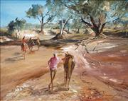 Sale 8692 - Lot 624 - Keith Naughton (1925 - ) - Dry River Bed of Diamantina, QLD 39.5 x 49.5cm