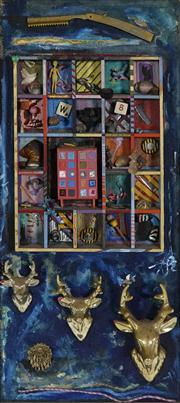 Sale 8716 - Lot 2002 - Mick Ward (1959 - ) - Untitled (Curiosities) 62 x 26.5cm