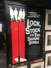 Sale 8751 - Lot 2073 - Framed Lock Stock and Two Smoking Barrels Poster