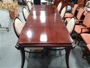 Sale 8843 - Lot 1049 - Drexel Seven Piece Dining Setting incl. Table and Six Chairs (H: 79cm, W: 288cm, D: 112cm)
