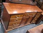 Sale 7919A - Lot 1691 - 19th Century Mahogany Breakfront Sideboard with 9 Drawers & 2 Doors