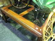 Sale 7974A - Lot 1038 - Timber and Glass Coffee Table