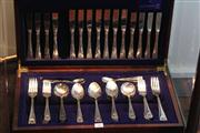 Sale 8047 - Lot 31 - Grosvenor Plated Part Cutlery Set In Canteen