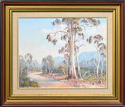 Sale 8282A - Lot 93 - Laszlo (Les) Lukacs (1945 - ) - Valley Road 39.5 x 50cm