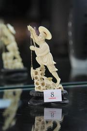 Sale 8322 - Lot 8 - Republic Ivory Carved Figure of a Fisherman