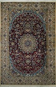 Sale 8418C - Lot 6 - Persian Nain Silk & Wool 300cm x 200cm