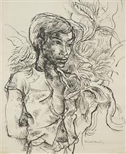 Sale 8475 - Lot 551 - Donald Friend (1915 - 1989) - Untitled (Balinese Boy) 62 x 50cm