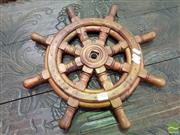 Sale 8500 - Lot 1200 - Small Timber Ships Helm