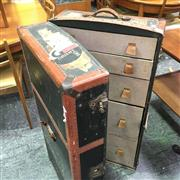 Sale 8643 - Lot 1042 - Leather Bound Travelling Trunk