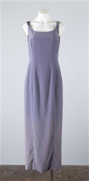 Sale 8685F - Lot 57 - A Jones New York Evening lavender column dress with contrasting satin back, US size 6