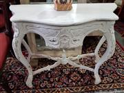 Sale 8740 - Lot 1292 - White Painted Timber Serpentine Front Console Table