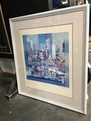 Sale 8752 - Lot 2046 - Charles Billaich - City Landscape, Limited Edition Print