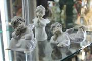 Sale 8296 - Lot 25 - Lladro Set Of Three Angels