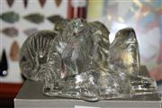 Sale 8330T - Lot 122 - Orrefors Crystal Dog Figure with Various Australian Fauna Crystal Paperweights (7)