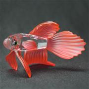 Sale 8412B - Lot 96 - Swarovski Crystal Fish with Red Fins in Box - Length 8.5cm