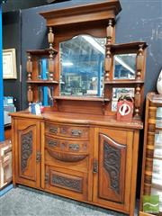 Sale 8480 - Lot 1014 - Mirrored Back Sideboard