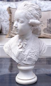 Sale 8568A - Lot 135 - A resin bust, probably of the dauphin, H 44cm