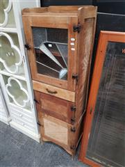 Sale 8680 - Lot 1011 - Kitchen Cabinet with Leadlight Panel Door